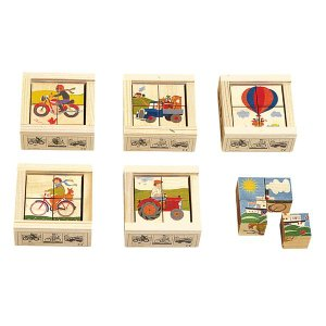 アトリエフィッシャー 六面体パズル・4pcs・乗物 AF407 知育玩具 sun-wa