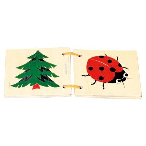 アトリエフィッシャー 木の絵本・ナチュラル・ミニ AF7012 知育玩具|sun-wa