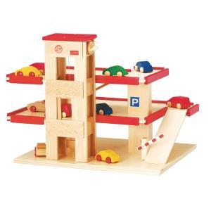 ベック ロードセット 立体駐車場 リフト付・赤 BE30000R 知育玩具|sun-wa