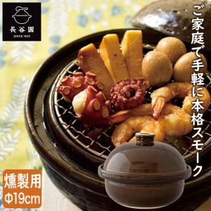 燻製用土鍋 くんせい用土鍋 長谷園 伊賀焼 卓上燻製器 いぶしぎん ミニ(チップ付き) CK-10 家庭用 小型|sun-wa