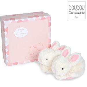 DouDou ドゥドゥー ボンボンラビット ベビーファーストシューズ ピンク DC1308 知育玩具|sun-wa