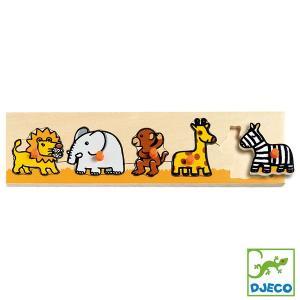 DJECO ジェコ リフトアウトパズル サバンナ DJ01111 知育玩具|sun-wa