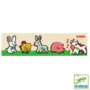 DJECO ジェコ リフトアウトパズル ファーム DJ01116 知育玩具|sun-wa