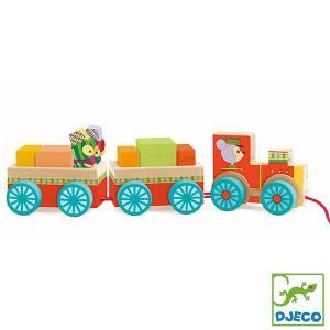 DJECO ジェコ ジュンゾー トレイン DJ06442 知育玩具|sun-wa