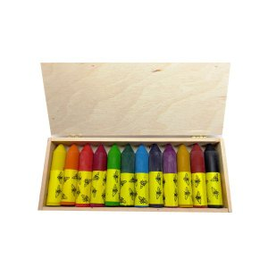 エコノーム ナロワ・ミツロウクレヨン・ミニ12色 EK73023 知育玩具|sun-wa