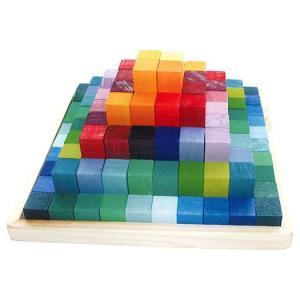 グリムス にじのステップブロック GM42090(知育玩具)|sun-wa