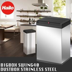 【正規品・保証付】Hailo(ハイロ) ビッグボックス スウィング40 ステンレス ダストボックス 0840-111