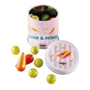 ハバ 缶入り豆とにんじん HA1410(ままごと) 知育玩具|sun-wa