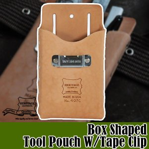 ヘリテージレザー Box Shaped Tool Pouch W-Tape Clip ツールポーチ HL407C|sun-wa