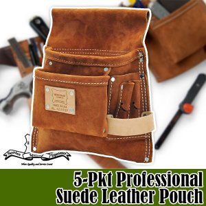 ヘリテージレザー 5-Pkt Professional Suede Leather Pouch 腰袋 HL423RSP|sun-wa
