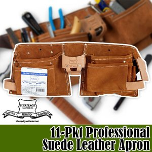 ヘリテージレザー 11-Pkt Professional Suede Leather Apron 腰袋 HL490|sun-wa
