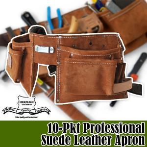ヘリテージレザー 10-Pkt Professional Suede Leather Apron 腰袋 HL491|sun-wa