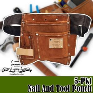 ヘリテージレザー 5-Pkt Nail And Tool Pouch 腰袋 HL495|sun-wa