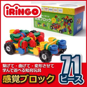 知育玩具 感覚ブロック アイリンゴ 71ピース IR-71N sun-wa