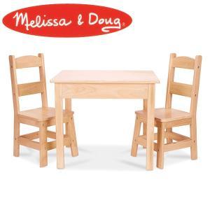 Melissa&Doug メリッサ&ダグ ウッド テーブル&チェアー セット MD2427 知育玩具|sun-wa
