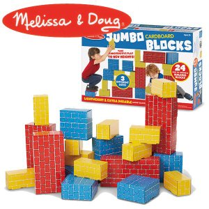 Melissa&Doug メリッサ&ダグ ジャンボ カードボード ブロック 24ピース MD2783 知育玩具 sun-wa