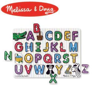 Melissa&Doug メリッサ&ダグ ペグパズル アルファベット MD3272 知育玩具 sun-wa