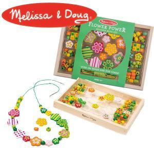 Melissa&Doug メリッサ&ダグ フラワーパワー ビーズセット MD4178 知育玩具|sun-wa