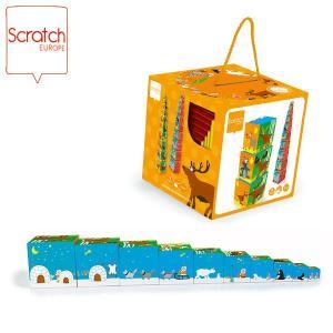 SCRATCH スクラッチ スタッキングタワー アニマル 10ピース SC1034 知育玩具|sun-wa