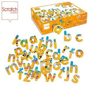 SCRATCH スクラッチ ABCマグネット サファリ 60ピース SC1064 知育玩具|sun-wa