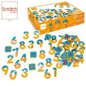 SCRATCH スクラッチ ナンバーマグネット サファリ 60ピース SC1066 知育玩具|sun-wa