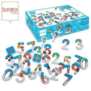 SCRATCH スクラッチ ナンバーマグネット シティ 60ピース SC1067 知育玩具|sun-wa