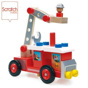 SCRATCH スクラッチ コンストラクション ファイヤートラック SC1070 知育玩具 sun-wa