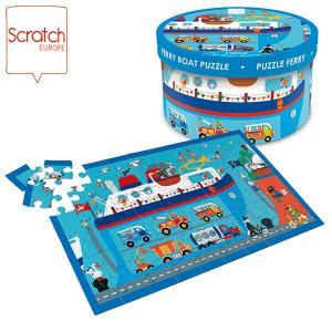 SCRATCH スクラッチ パズル 60ピース フェリーボート SC1075 知育玩具|sun-wa