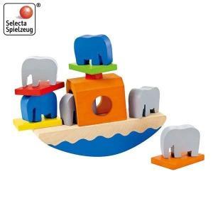 セレクタ バランスぞうさん SE62012(トドラー用積み木、ブロック) 知育玩具|sun-wa