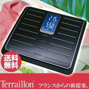 旧商品 Terraillon 体脂肪計 TFA Cileo ブラック&クロム TBS801CR|sun-wa