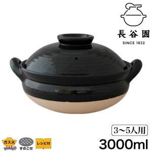 蒸し料理用土鍋 長谷園 伊賀焼 ヘルシー蒸し鍋 黒 大 ZW-18 土鍋 日本製 9号|sun-wa