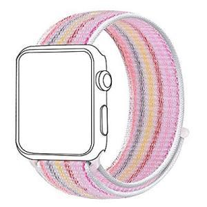 CE Bandmax Apple Watch Series 4 44mm バンド ナイロン 面ファス...