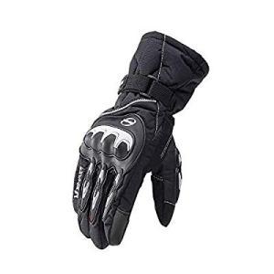 オートバイの手袋 オートバイグローブ 防水 防風 防寒 サイクリング用手袋 スマートフォンタッチスク...
