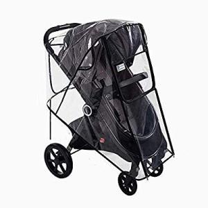 Baby Product (2019 最新版)ベビーカー用レインカバー 雨よけ 梅雨 防寒 フロント...