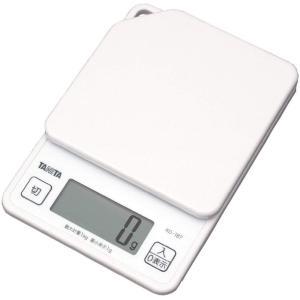 タニタ はかり デジタルスケール 1kg 1g単位 KD-187-WH ホワイト 白