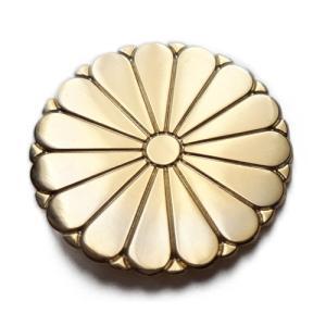 SunAge 菊紋 ピンバッジ 十五菊紋ピンズ 15枚の花びらデザイン