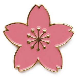 SunAge 桜 ピンバッジ 桜の花びらをデザインしたピンズ ピンク色 サイズ大 2.6cm バッジ