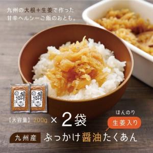 セール 《お一人様2セットまで》九州 ぶっかけ 醤油 たくあん ご飯のとも 2袋 メール便