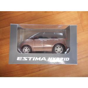 ★非売品★ エスティマHYBRID ブラウン プルバックカー|sunauto3