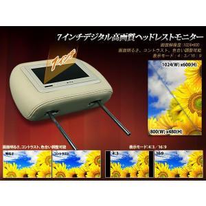 ヘッドレストモニター★分配器付・7インチデジタル高画質☆2素材・3色☆EONON(L0270M)|sunbobo-jp|03