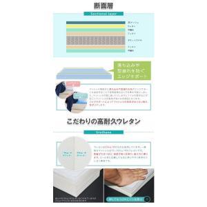 ポケットコイルマットレス セミダブル 120cm SDサイズ マット 3Dメッシュポケットコイルマットレス グレー 北欧風 通気性 高耐久ウレタンSD マットレス|sunbridge-webshop|05