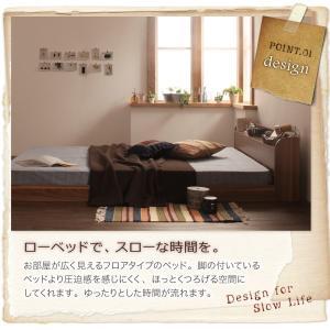シングルベッド シングルベット ポケットコイルマットレス付き シングルベッド ローベッド ロータイプベッド 北欧ベッド|sunbridge-webshop|03