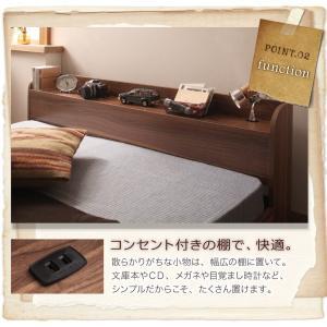 シングルベッド シングルベット ポケットコイルマットレス付き シングルベッド ローベッド ロータイプベッド 北欧ベッド|sunbridge-webshop|04