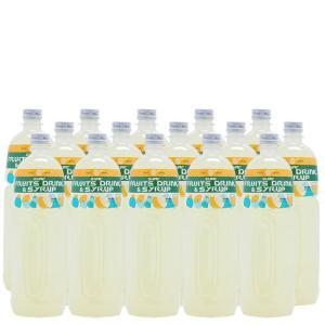 無糖レモンシロップ(業務用)【無糖レモンフレーバーシロップ】1Lペットボトル×15本|sunc-shopping