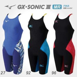 競泳 水着 レディース ミズノ ハーフスーツ GX SONIC 3 MR FINA 承認ラベル付 N2MG6202 MIZUNO|suncabin