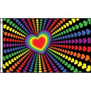 アメリカンフラッグ レインボーラブフラッグ3×5ft(150×90cm) メール便可 Rainbow...