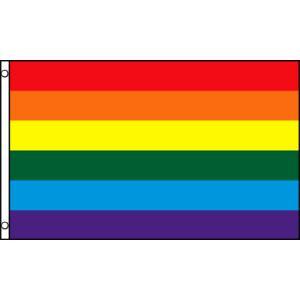 アメリカンフラッグ レインボーフラッグ2×3ft(60×90cm) メール便可 Rainbow Fl...