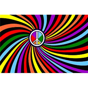 アメリカンフラッグ ピースレインボー フラッグ Rainbow Peace Swirl Flag