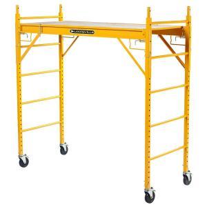 組立式、足場板高さ調整可能。 キャスター付属。  サイズ:H190xD78xW189(cm) 足場サ...