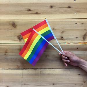スティックフラッグレインボー12inch(30cm)2本セット メール便可 Rainbow Flag